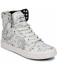 Supra - Womens Skytop Women's Shoes (high-top Trainers) In White - Lyst