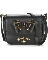 2175a8f14cf0 Vivienne Westwood Spencer Leather Cross-body Bag in Red - Lyst