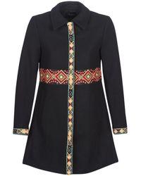 Desigual - Elisabeth Women's Coat In Black - Lyst