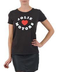Kulte - Louisa Joliemotor 101954 Noir T Shirt - Lyst