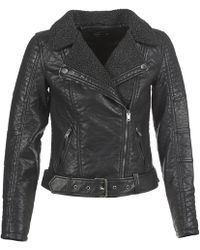 ONLY - Thilde Leather Jacket - Lyst