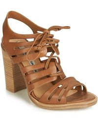 d64306c06ec ASOS Hayden Block Heeled Sandals in Natural - Lyst