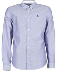 Timberland - Slim Rvr Oxford Long Sleeved Shirt - Lyst