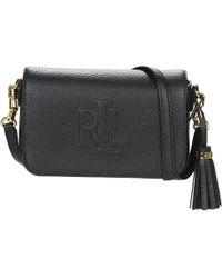 5296a937e9cf Ralph Lauren Carrington Farrah Clutch Women s Shoulder Bag In Black ...