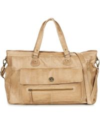 Pieces - Totally Royal Leather Travel Bag Shoulder Bag - Lyst