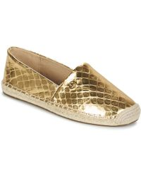 MICHAEL Michael Kors - Kendrick Metallic Snake Leather Slip-on Espadrilles - Lyst