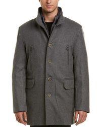 Cole Haan - Melton 3-in-1 Wool-blend Coat - Lyst