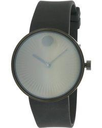 Movado - Men's Rubber Strap Watch - Lyst