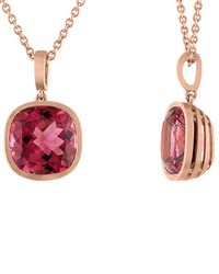 Tate - 18k Rose Gold 5.91 Ct. Tw. Pink Tourmaline Necklace - Lyst