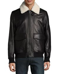 Michael Kors - Shearling Touch Aviator Jacket - Lyst