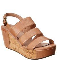 4bebc0ed1d1a Chocolat Blu - Whitly Leather Wedge Sandal - Lyst