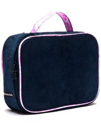 """Melissa Beth - Deep Blue """"kiss And Make Up"""" Cosmetic Bag - Lyst"""