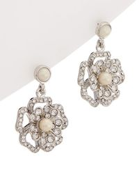 Carolee - Grand Entrance Double Drop Earrings - Lyst