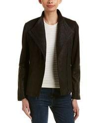 T Tahari - Leather Jacket - Lyst