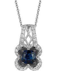 Le Vian - ® 14k 0.76 Ct. Tw. Diamond & Sapphire Necklace - Lyst