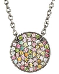 Adornia - Fine Jewelry Rhodium Plated Silver 1.00 Ct. Tw. Tourmaline Necklace - Lyst