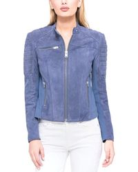 Marc New York - Lonny Suede Moto Jacket - Lyst