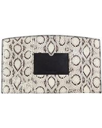 Reed Krakoff - Atlantique Leather-trimmed Snakeskin Pouch - Lyst