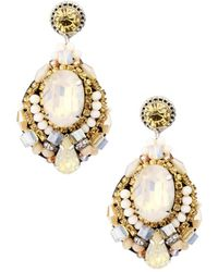Saachi - Crystal Statement Earrings - Lyst