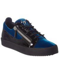 Giuseppe Zanotti - Velvet & Patent Sneaker - Lyst