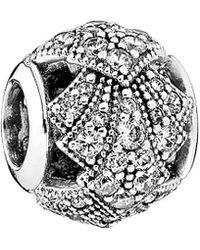 PANDORA - Oriental Fan Silver Charm - Lyst