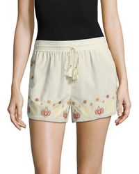 Rachel Zoe - Stephanie Embroidered Short - Lyst
