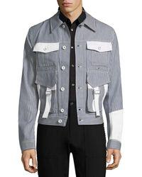 Diesel Black Gold - Jost Stripe Caban Jacket - Lyst