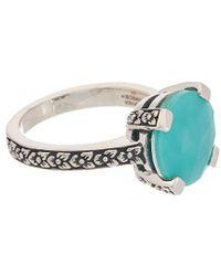 Stephen Dweck - Aurora Silver Crystal Quartz Over Turquoise Ring - Lyst