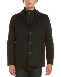 Hart Schaffner Marx - Triple Play Wool-blend Coat - Lyst