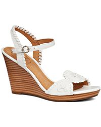 Jack Rogers - Clare Wedge Leather Sandal - Lyst