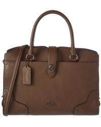 COACH - Mercer 30 Leather Satchel - Lyst