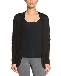Electric Yoga - Black Burnout Cardigan - Lyst