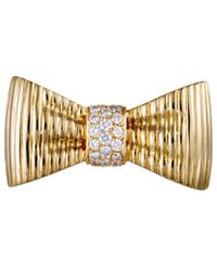 Heritage Van Cleef & Arpels - Van Cleef & Arpels 18k Yellow Gold 0.49 Ct. Tw. Diamond Brooch - Lyst