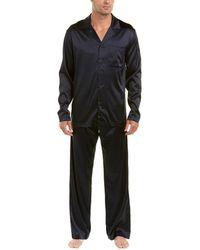 Hanro - 2pc Silk-blend Pyjama Pant Set - Lyst
