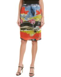 MILLY - Long Pencil Skirt - Lyst