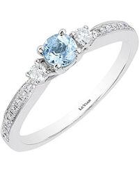 Le Vian - ? 14k 0.41 Ct. Tw. Diamond & Aquamarine Ring - Lyst