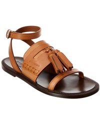 Burberry - Tasseled Leather Sandal - Lyst