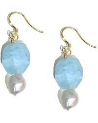 Charlene K - 14k Over Silver Chalcedony & Pearl Earrings - Lyst