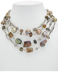 Stephen Dweck - Eclipse Silver Gemstone & Pearl Necklace - Lyst