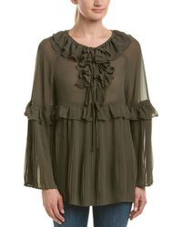 Romeo and Juliet Couture - Pleated Top - Lyst