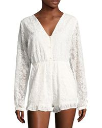 6 Shore Road By Pooja - Earlybird Lace Romper - Lyst
