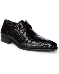 Mezlan - Crocodile Slip-on Buckle Shoes - Lyst