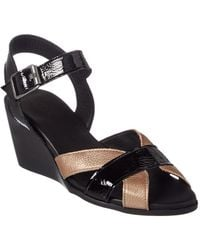 Arche - Egowa Leather Wedge Sandal - Lyst
