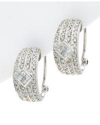 Diana M. Jewels - 18k 1.10 Ct. Tw. Diamond Huggies - Lyst