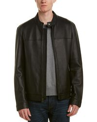 Cole Haan - Bonded Leather Moto Jacket - Lyst