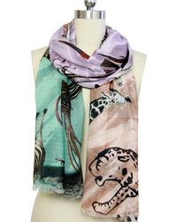 Saachi - Animals All Over Scarf - Lyst