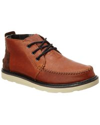 TOMS - Leather Chukka Boot - Lyst