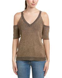 Splendid - Cold-shoulder Wool-blend Top - Lyst