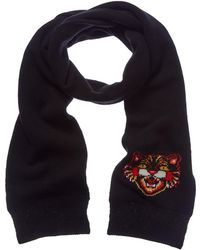 Gucci - Angry Cat Wool Scarf - Lyst