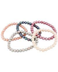 Splendid - 6-7mm Freshwater Pearl Set Of Stretch Bracelets - Lyst